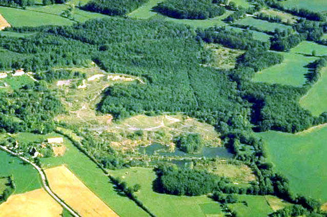 Vue aérienne des étangs, vue du nord-ouest
