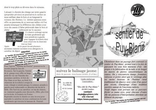 guide sentier Puy-blanc recto